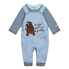The Gruffalo - Babies' blue dungarees and bodysuit