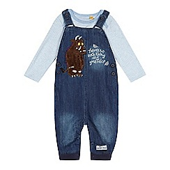The Gruffalo - Baby boys' blue dungarees and striped bodysuit set