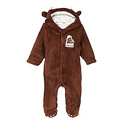 The Gruffalo - Baby boys' brown fleece all in one suit