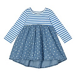 bluezoo - Babies blue striped mix dress