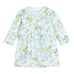bluezoo - Babies light green watercolour print jersey dress