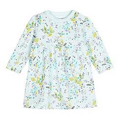 bluezoo - Babies light green watercolour print jersey dress
