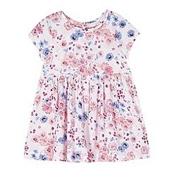 bluezoo - Babies white floral print dress