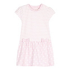 bluezoo - Babies pink spotted striped dress