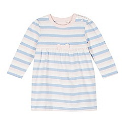 bluezoo - Babies pale pink striped jersey dress