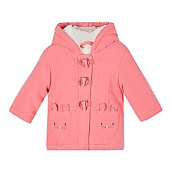 bluezoo - Babies pink mouse pocket fleece coat