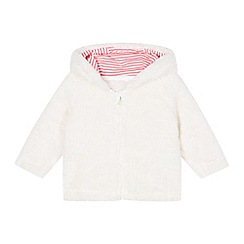 bluezoo - Babies cream fleece ear hooded jacket