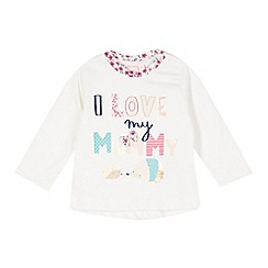 bluezoo - Babies off white 'I love my mummy' top