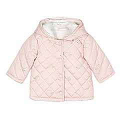 bluezoo - Babies pink quilted hedgehog coat