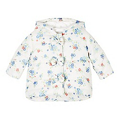 bluezoo - Babies off white floral padded coat