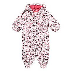 bluezoo - Babies pink floral padded snowsuit