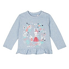bluezoo - Babies light blue bunny print peplum top