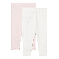 bluezoo - Pack of two babies pink cutout heart leggings