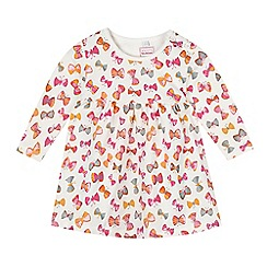 bluezoo - Babies cream butterflies jersey dress