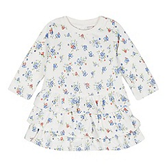 bluezoo - Babies off white floral rara dress