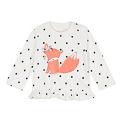 bluezoo - Babies off white polka dot squirrel top
