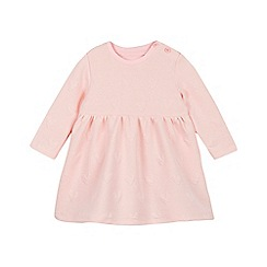 bluezoo - Baby girls' pink textured heart dress