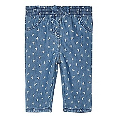 bluezoo - Babies blue floral chambray trousers