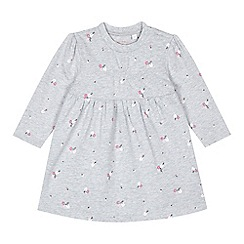 bluezoo - Baby girls' grey floral dress