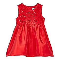bluezoo - Babies red sequin bodice dress