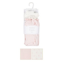 bluezoo - Pack of two babies pink frill and cream spotted tights