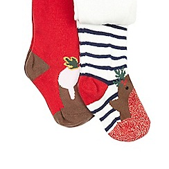 bluezoo - Baby girls' Christmas pudding and robin tights