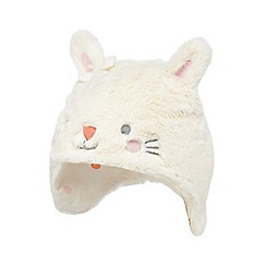bluezoo - Baby girls' cream bunny trapper hat