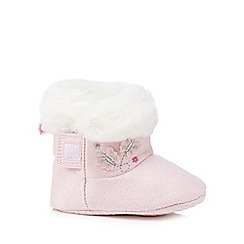 bluezoo - Baby girls' pink butterfly bootie