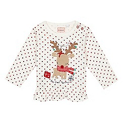bluezoo - Baby girls' red 'My First Christmas' top