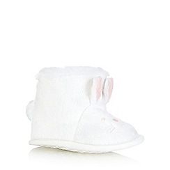 bluezoo - Baby girls' white bunny booties
