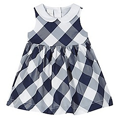 J by Jasper Conran - Designer babies navy checked woven dress