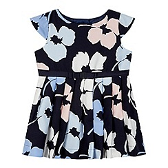 J by Jasper Conran - Designer babies navy floral jacquard dress