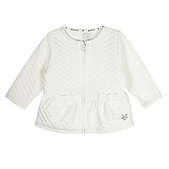 J by Jasper Conran - Designer babies white quilted sweat jacket