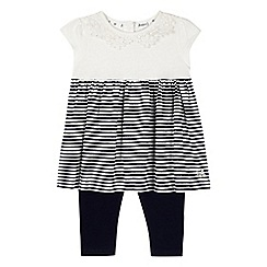 J by Jasper Conran - Designer babies navy striped tunic and leggings set