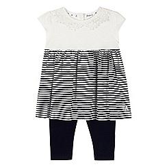 J by Jasper Conran - Designer babies navy striped tunic and leggings set