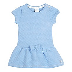 J by Jasper Conran - Baby girls' pale blue quilted jersey dress