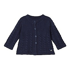 J by Jasper Conran - Babies navy cable knit cardigan