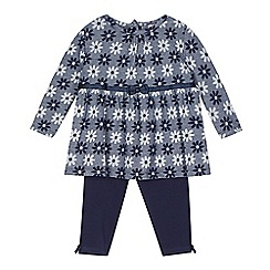 J by Jasper Conran - Babies navy floral tunic and leggings set