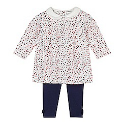 J by Jasper Conran - Babies cream ditsy floral tunic and leggings set