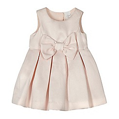 J by Jasper Conran - Designer babies pink bow applique dress