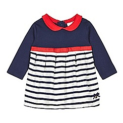 J by Jasper Conran - Designer babies navy striped jersey dress