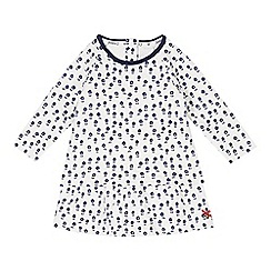 J by Jasper Conran - Designer babies off white floral quilted dress