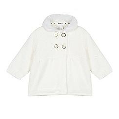 J by Jasper Conran - Baby girls' cream faux fur knit coat