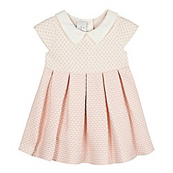 J by Jasper Conran - Designer babies pink and white spotted jacquard dress