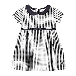 J by Jasper Conran - Baby girls' navy bobble check dress