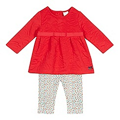 J by Jasper Conran - Baby girls' red floral tunic and leggings set