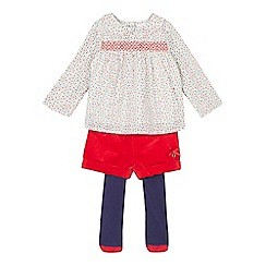 J by Jasper Conran - Baby girls' red tunic and shorts set
