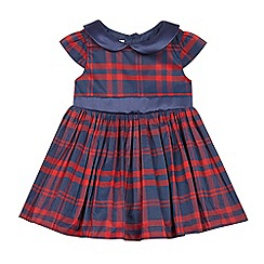J by Jasper Conran - Baby girls' navy check print dress
