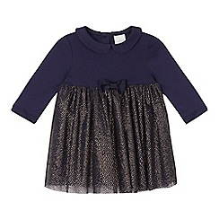 J by Jasper Conran - Baby girls' navy net skirt dress