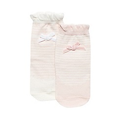 J by Jasper Conran - Pack of two designer babies pink striped ballet socks